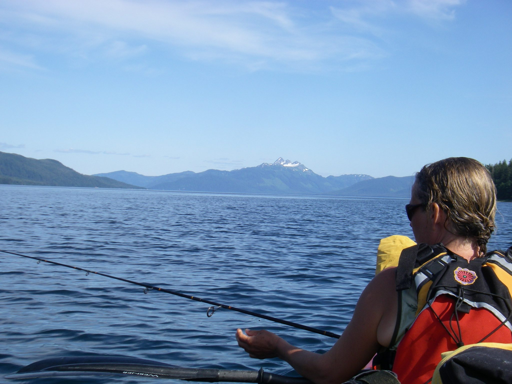 Single versus double sea kayak debate raven ecological blog for Double fishing kayak