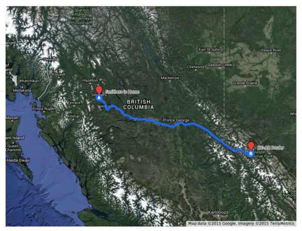 Our British Columbia Route