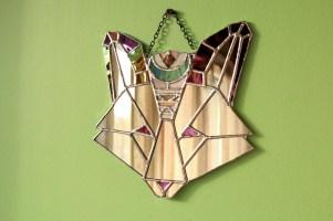 (Sold: Maryland, USA) Geometric Boho Fox Mirror
