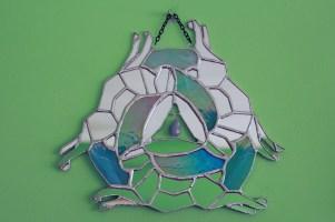 (Sold: North Carolina, USA) 3 Hares symbol mirror