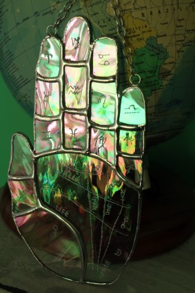 Iridescent clear palmistry