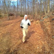 JoeMo at the southernmost point of the Raven Rocks Run course nearly at the overlook.