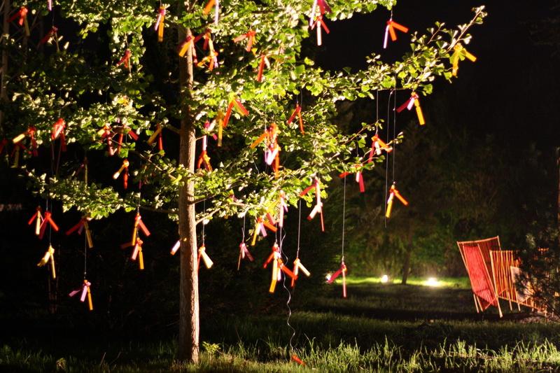 Skulpturengarten Kunstnacht (2010) Schmetterlingsbaum: Christiane Lehman