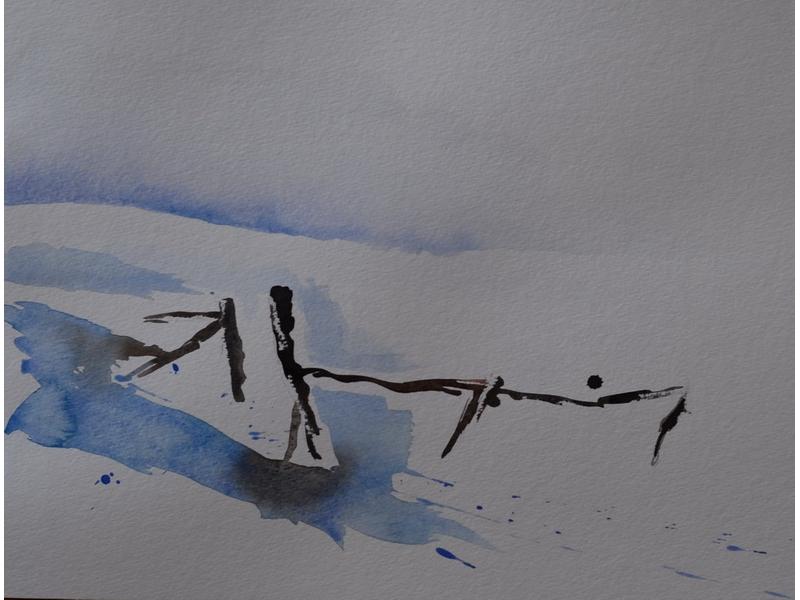 Christine Kostelezky: Winterlandschaft 3