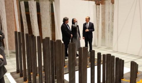 Ausstellungseröffnung mit Sr. M. Pietra Löbl osf (Foto: Carola Weber-Schlak)