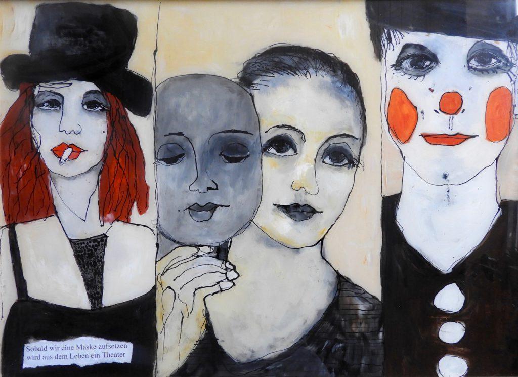 Heidrun Becker: Sobald wir eine Maske aufsetzen wird das Leben zum Theater