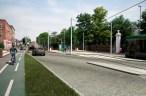 Morden tram extension visualisation