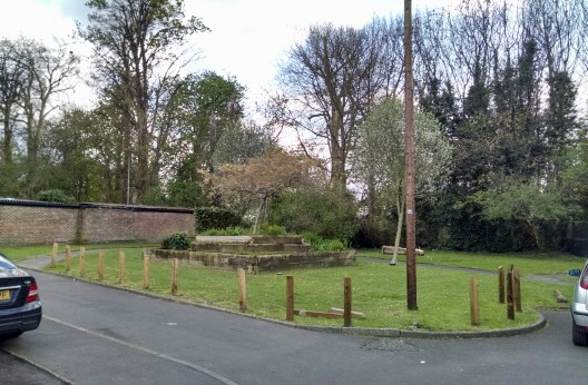 Gladed area at southern end of Ravensbury Grove