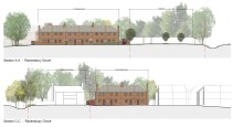 Ravensbury Garages - existing sections 1