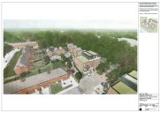 Ravensbury Garages - artists impression part view from air
