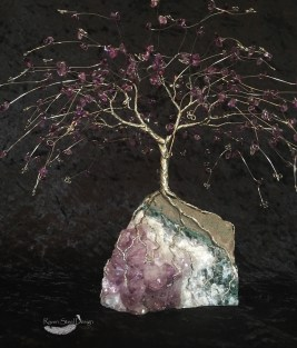 Amethyst Wire Tree of Life Sculpture