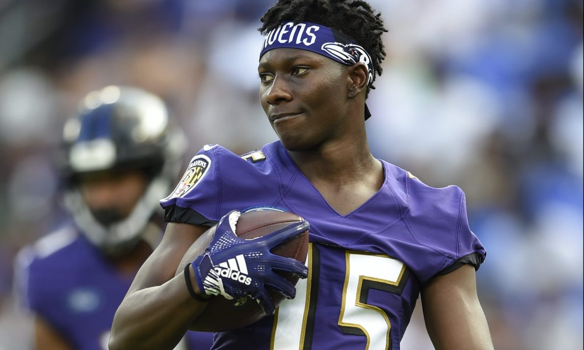 Ravens rookie WR Marquise Brown is faster than you'd think