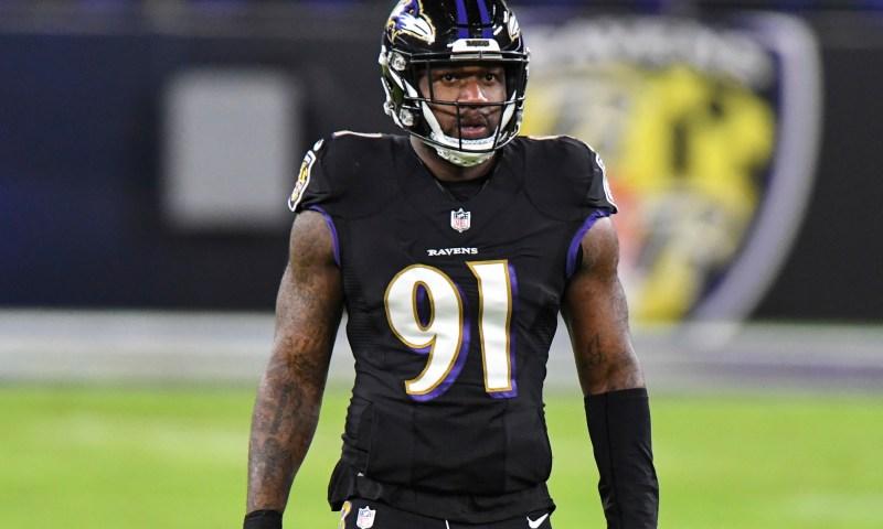 Baltimore Ravens DE Yannick Ngakoue has strip-sack against former team