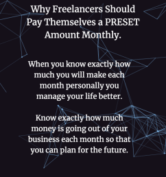 pay yourself a pre set amount as a freelancer [ 1024 x 1024 Pixel ]
