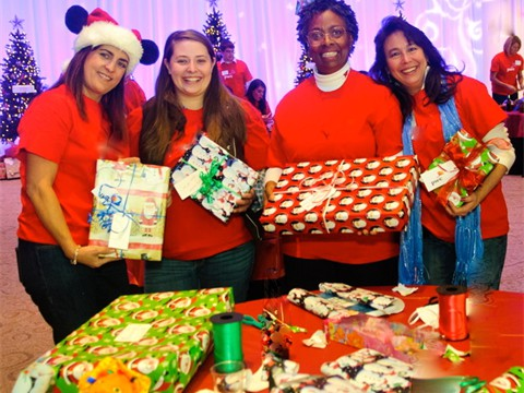 Wrapping New Toys for Girls and Boys in Need copy