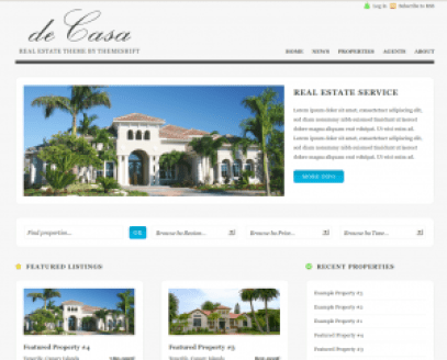 de-casa-real-estate-wordpress-theme from themeshift