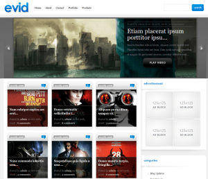 evid premium video wordpress theme by Elegant themes