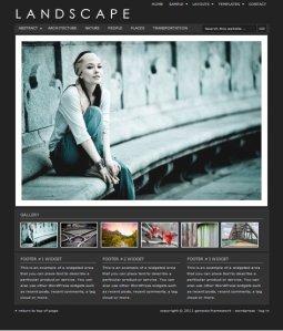 landscape premium wordpress theme for photographers from studiopress