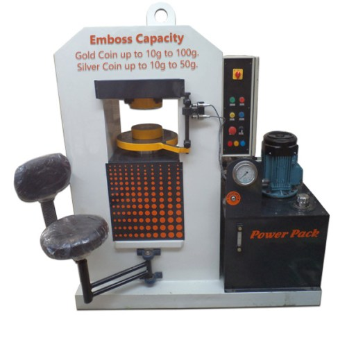 Gold Silver Coins Embossing Hydraulic Press Machine