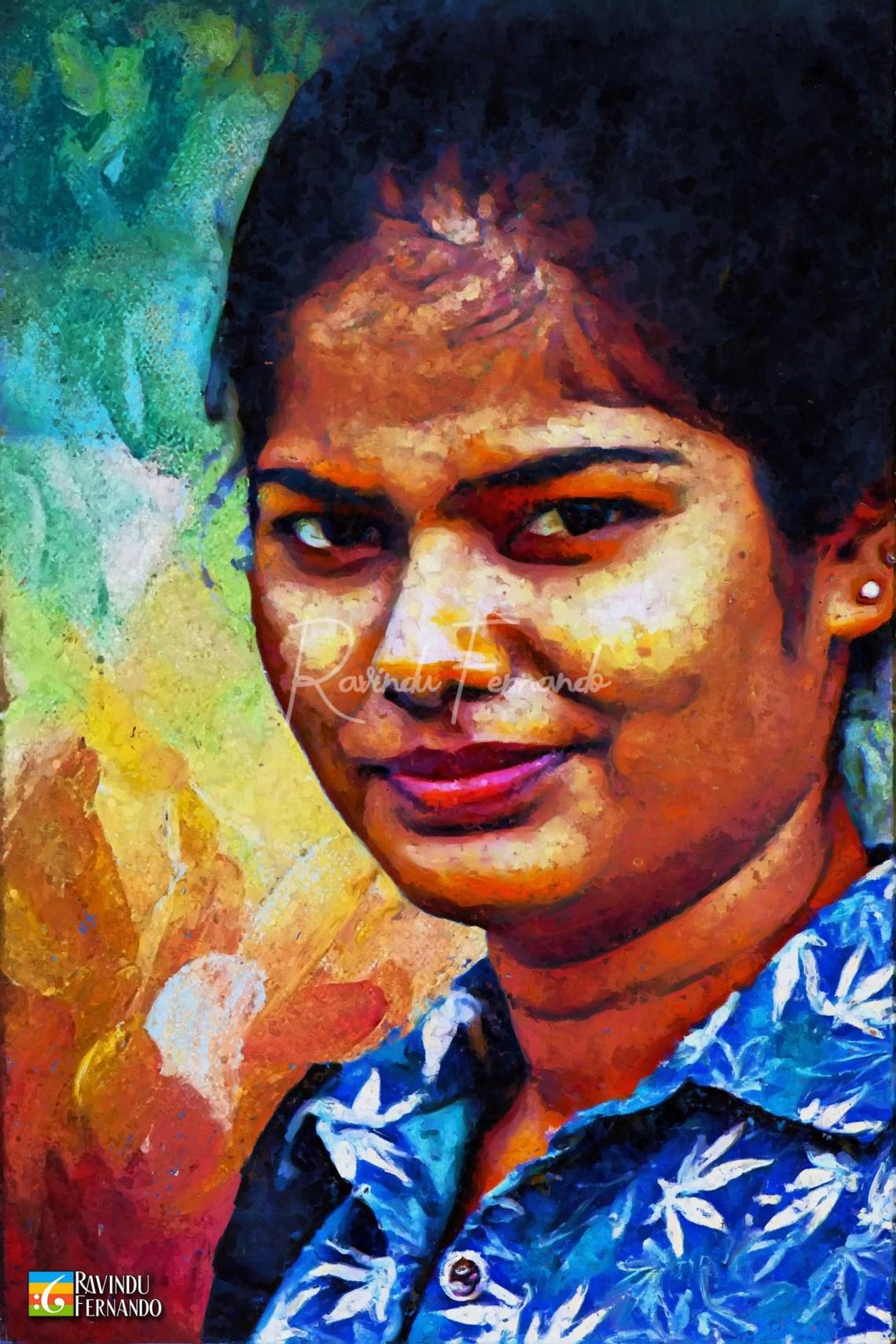 Maneka Gamage - Digital Oil Painting By Ravindu Fernando