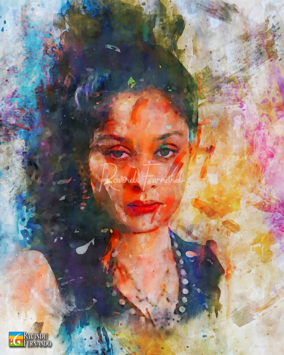 Anoja Weerasinghe - Digital Watercolor Painting