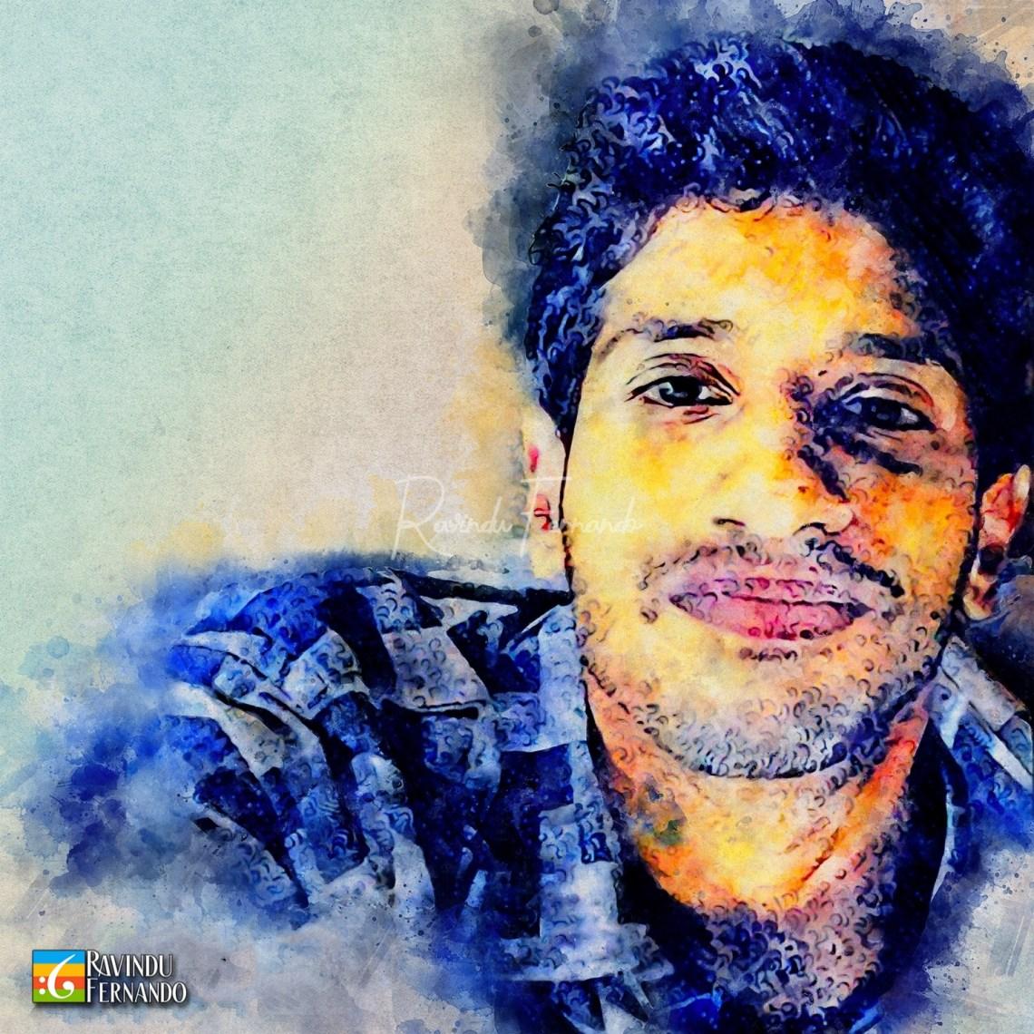 Sandu Rambukwella - Digital Watercolor Painting