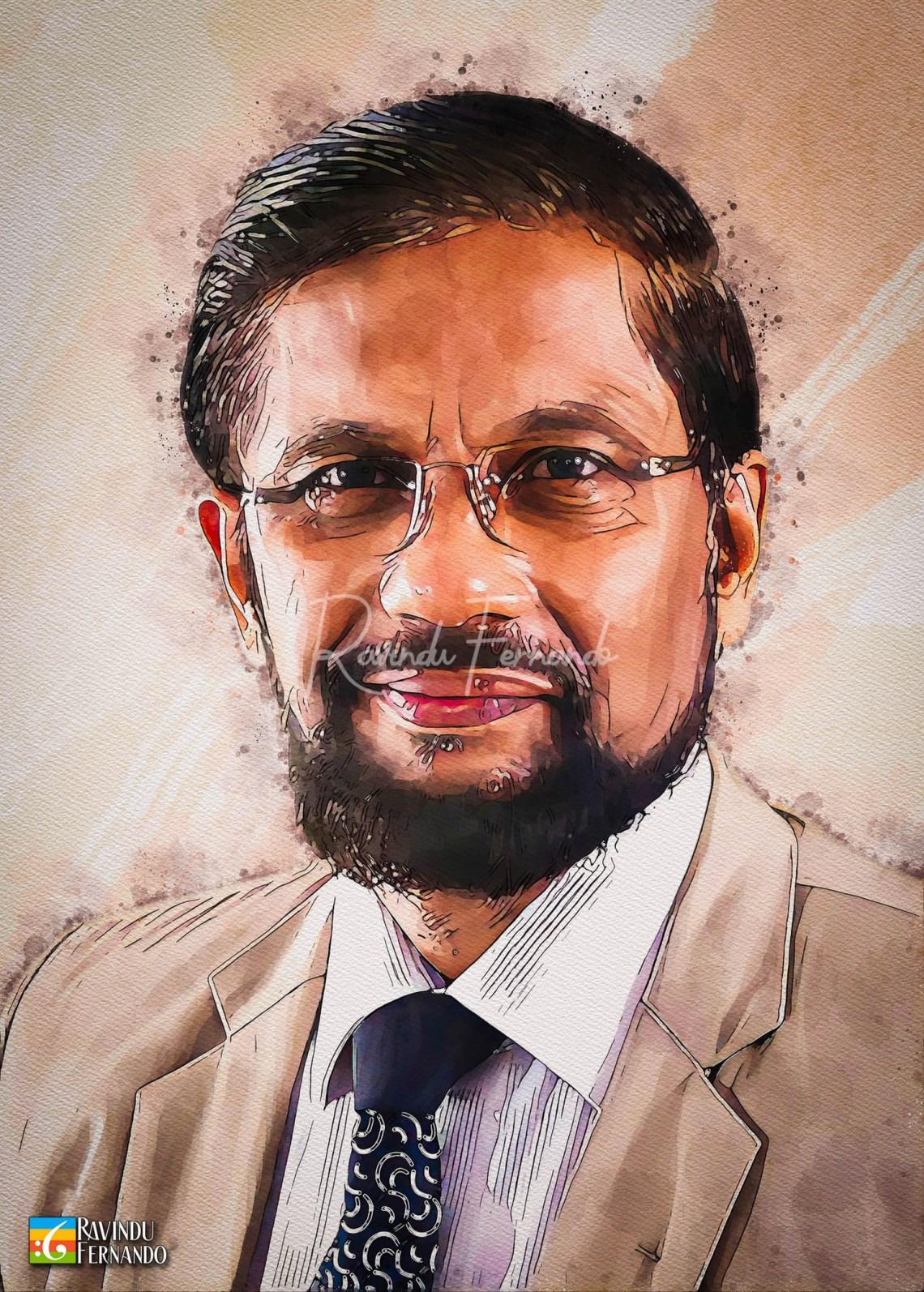Nihal Abeysinghe - Digital Watercolor Painting