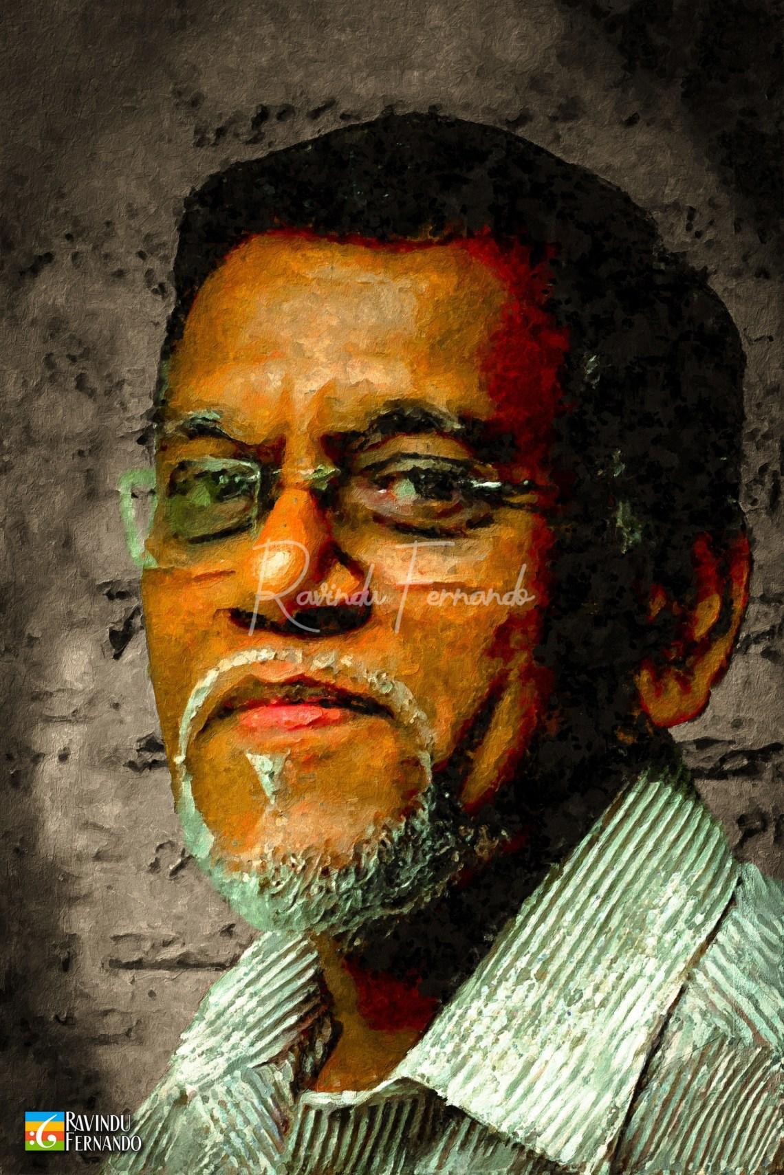 Nimal Peiris Digital Oil Painting by Ravindu Fernando