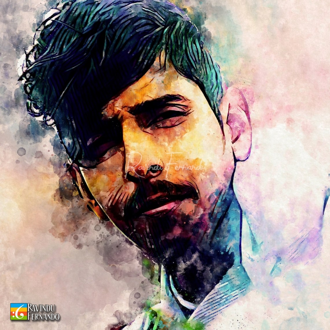 R Pradeep Kumarasinghe - Digital Watercolor Painting