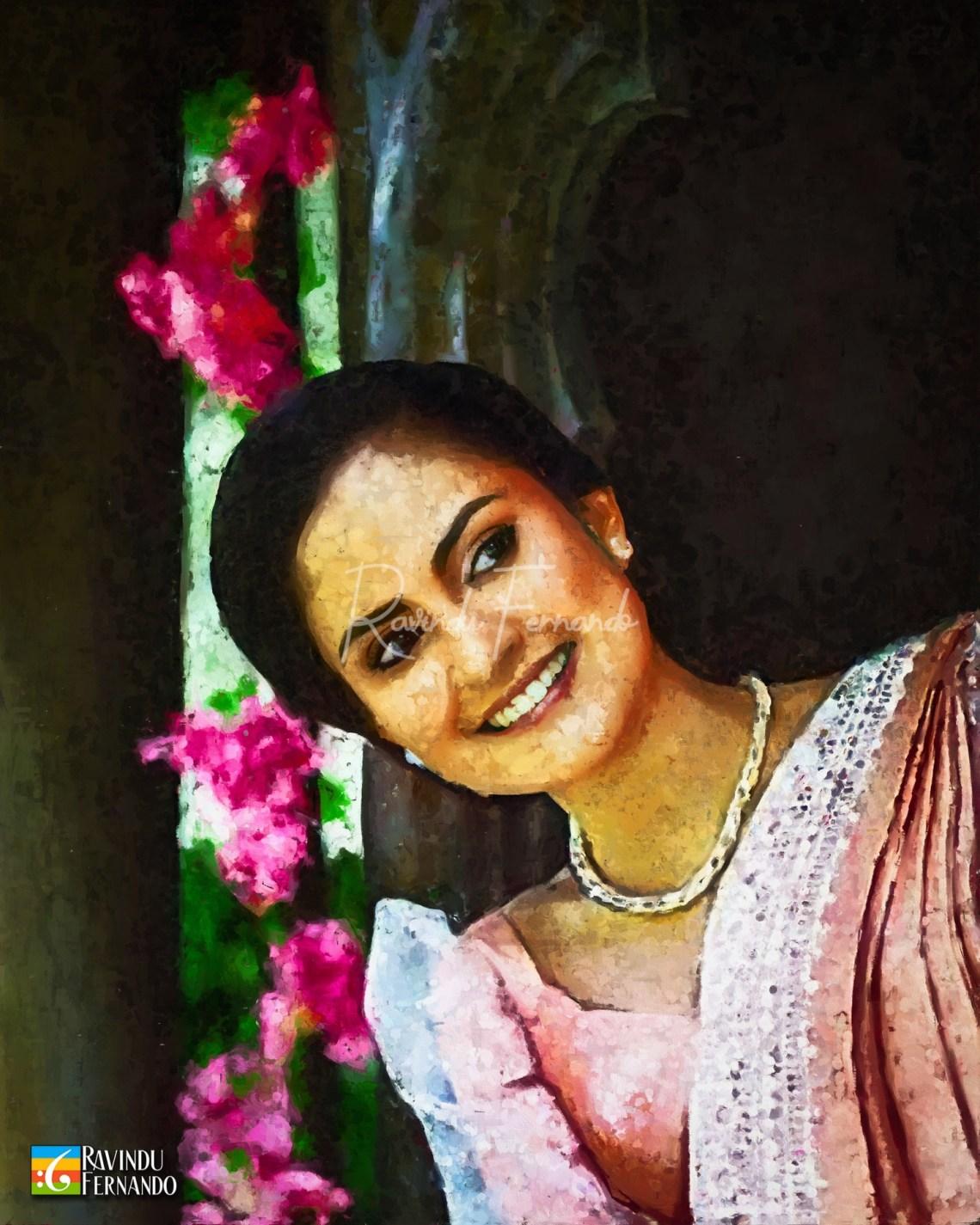 Kanchana Anuradhi Digital Oil Painting by Ravindu Fernando