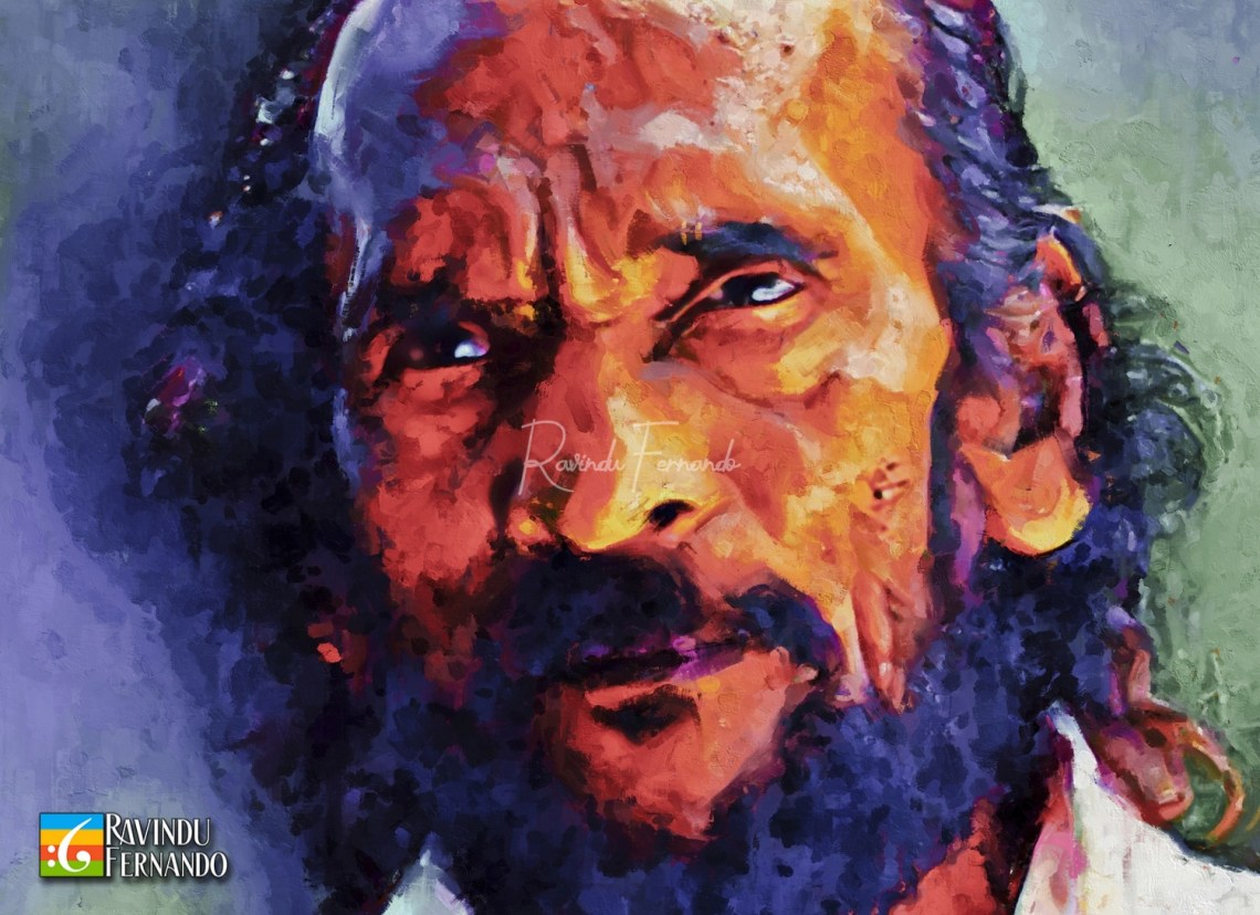 Wilsan Karu Digital Oil Painting by Ravindu Fernando