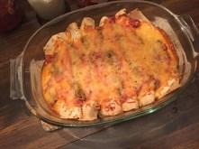 I cooked turkey enchiladas for everyone