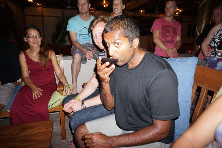 Partaking in a Kava ceremony in Fiji