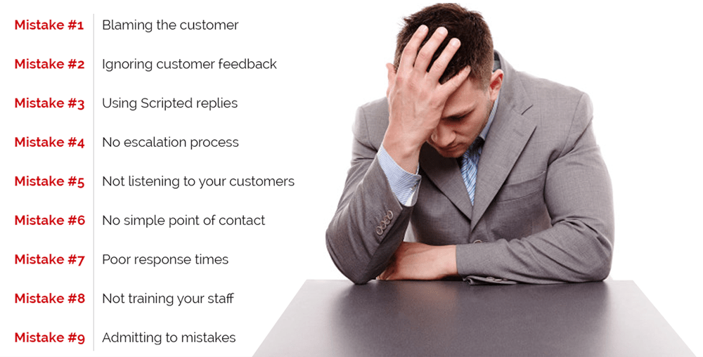 9 Customer service mistakes