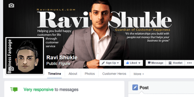 Ravi_Shukle_Customer_Service_Specialist_-_Facebook_update_-_Response_Rate_Feature