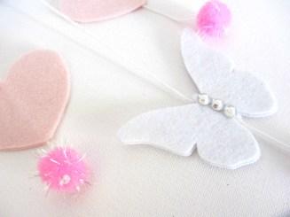 Farfalla in feltro con brillantini