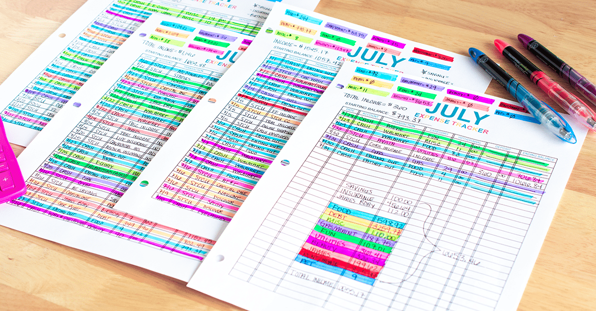Create A Visual Method To Track Spending