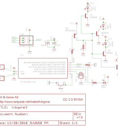 download tv b gone kit adafruit learning system tv circuit wire design tv b gone circuit diagram [ 950 x 847 Pixel ]