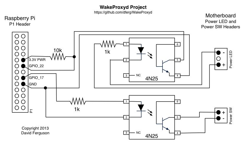 dferg/WakeProxyd Wake-on-LAN Proxy Using a Raspberry Pi by