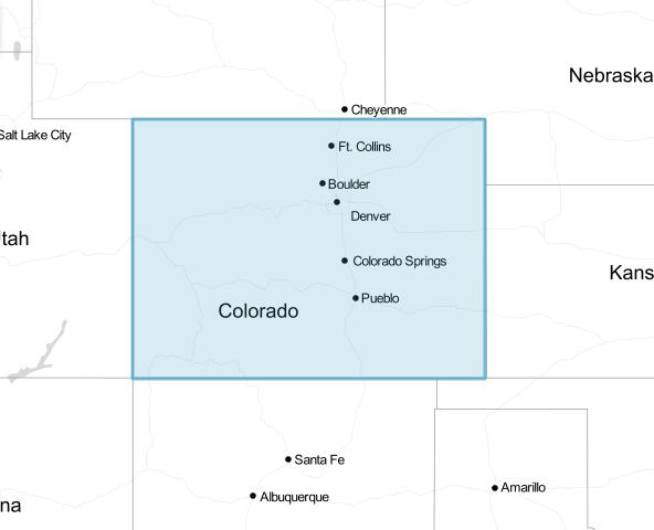 Colorado drawn in Leaflet
