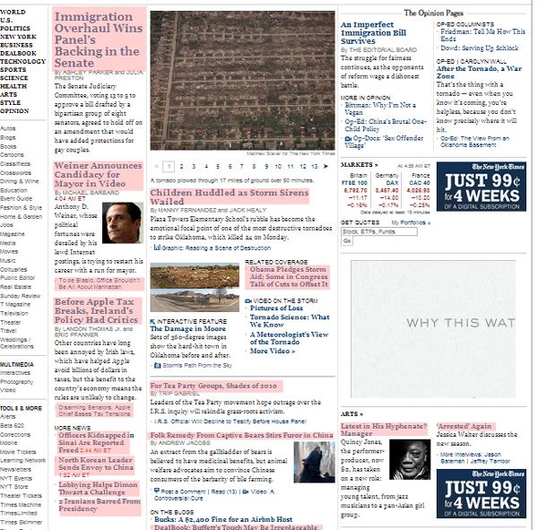 New York Times - desktop