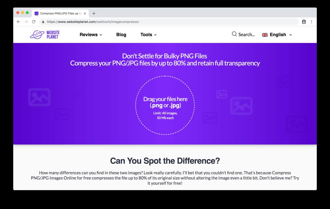 websiteplanet.com/webtools/imagecompressor
