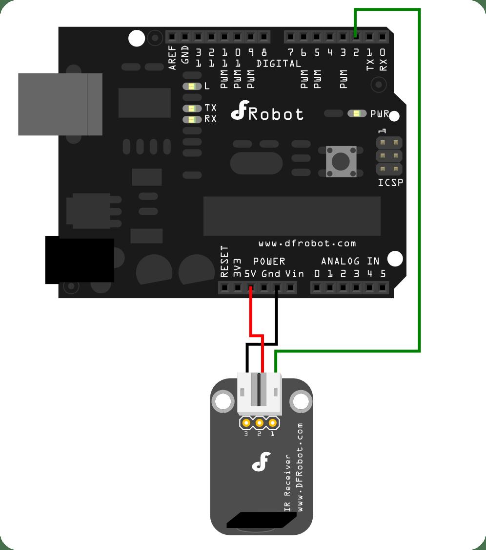 medium resolution of ir receiver connection diagram