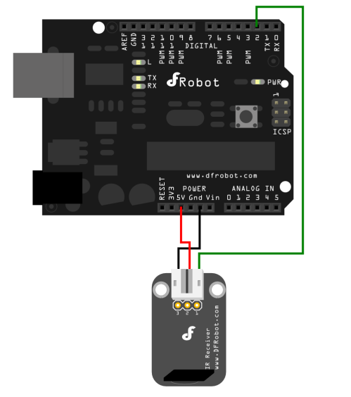 small resolution of ir receiver connection diagram