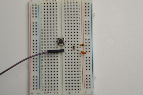 small resolution of debouncing circuit for the push button