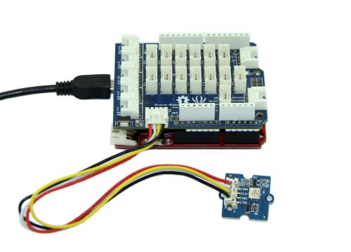 small resolution of connect it to i2c port of seeeduino or grove base shield via a grove cable and connect arduino to pc via a usb cable