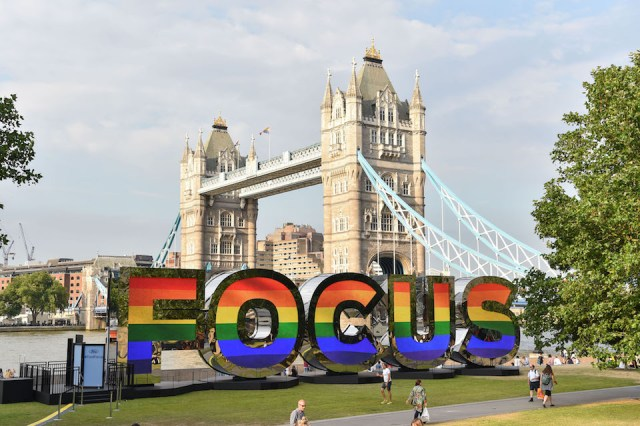 What is that Focus sign by the Thames and Tower Bridge?