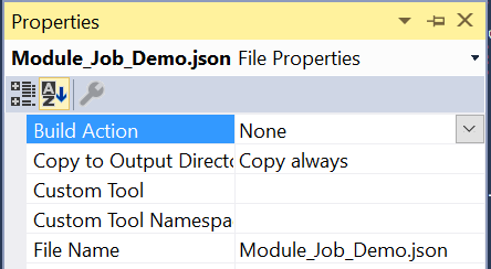 Job Module Json