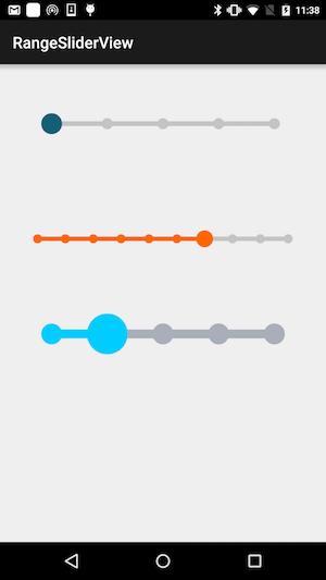 range-slider-view Android Range Slider View @codeKK