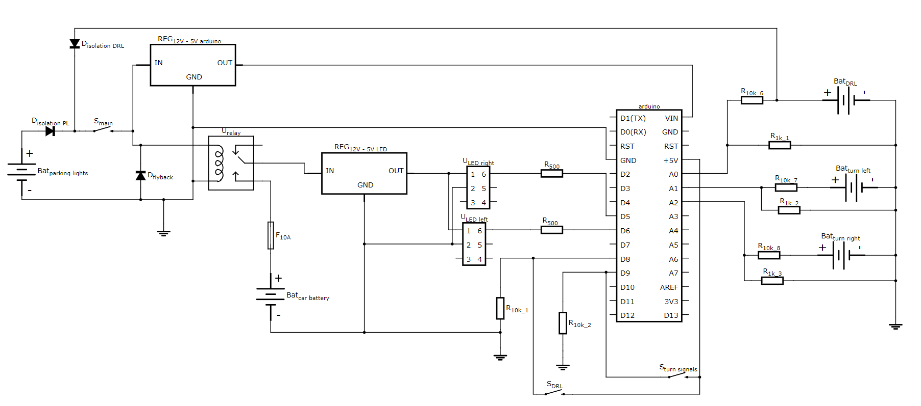 hight resolution of link to schematic https circuits io circuits 5441376 arduino car drl turn signal